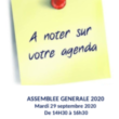 À noter sur votre agenda : AG 2020